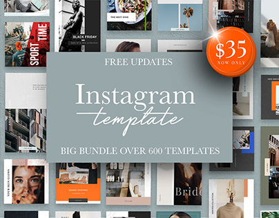 Instagram Template Bundle 23IN1