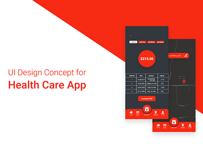 UI Design Concept for Health Care App
