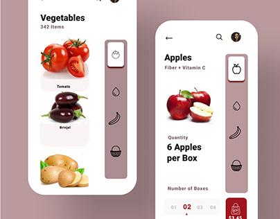 Online Fruits & Vegetales Purchase App