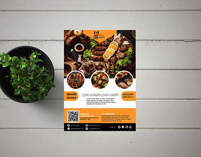 Unique BBQ Flyer Design template