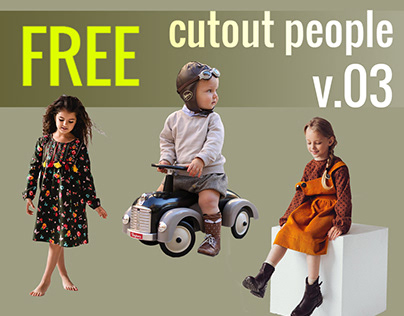 Free Cut Out People Vol. 03 - KIDS PACK