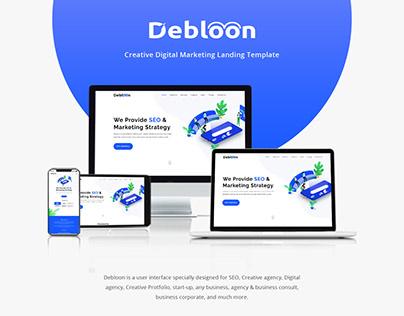 Debloon Marketing Landing Template