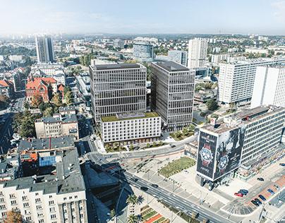 Aerial render, Katowice, Poland