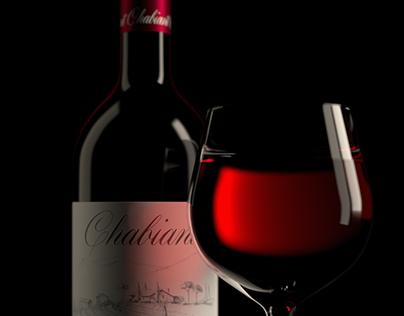 Wine 3D CGI