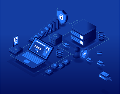 Data Protection Isometric