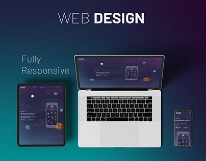 Responsive Website - NiO app