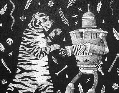 Tiger vs Robot