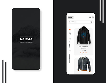 Latest UI/UX of an Online Clothing App