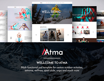 ATMA fitness wellness travel yoga template