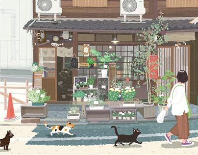 TABINEKO-Kyoto Flower Shop