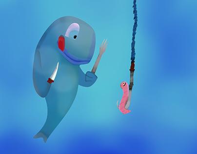 Ilustración digital cartoon