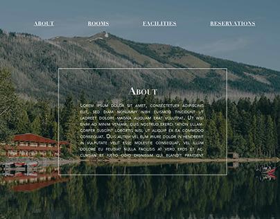 Ascent Mountain Lodge - website design (mock-up)