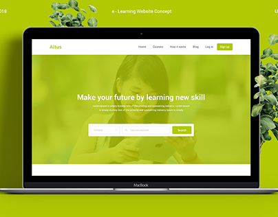 Altus e Learning Website Concept