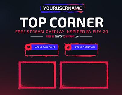 Top Corner - Free FIFA 20 Twitch Overlay