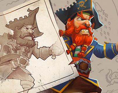 "Cover illustration "" Pirates of the seven seas """