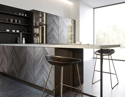 """HERRINGBONE"" KITCHEN for INSTYLE company"