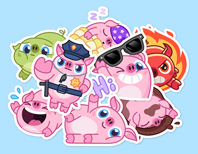 NICK WALLOW PIG - Telegram animated stickers