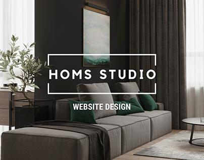 Homs studio - website design