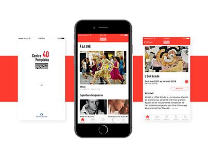 Pompidou mobile app - Redesign