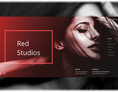 Photo Studio Landing Page
