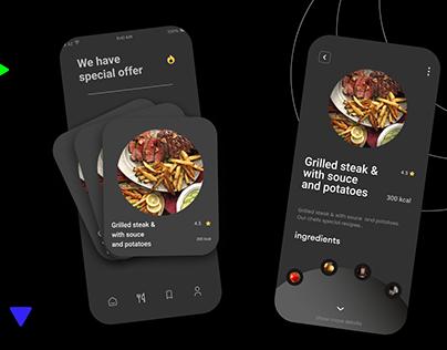 Mobile app for restaurant UI/UX Design