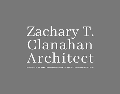 Zachary T. Clanahan, Architect. Various Works 2018