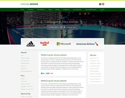 Handball Sports theme