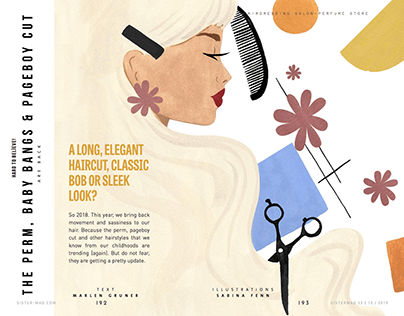 Editorial illustrations for SisterMAG