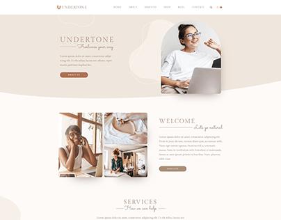Clean portfolio website design 2021