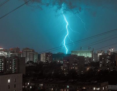 To catch lightning