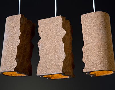 Maroubra Pendant Lights: Cork & Porcelain