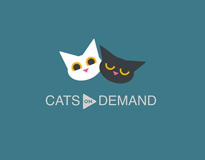 Cats On Demand WIP App Design