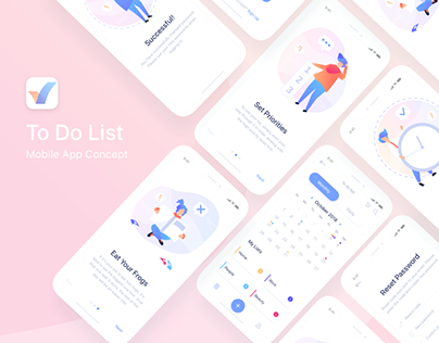 To Do List Mobile App Concept