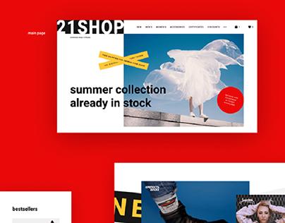 21Shop - Redesign Concept