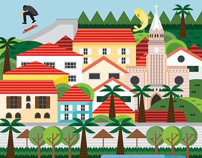 Piraju City Illustration