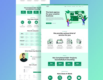 Marketing Agency Landing Page Design