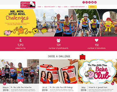 Children with Cancer Virtual Event Hub Designs