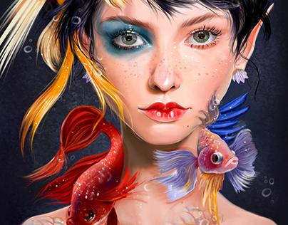 My fishy faerie😍♀🧜🏻 جنيتي السمكه😍😍♀🧜🏻