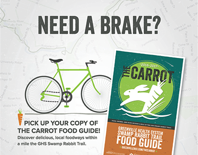 The Carrot Branding and Swamp Rabbit Map Guide