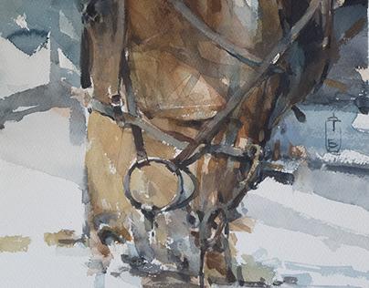 Head 20 watercolour 56 x 38 cm