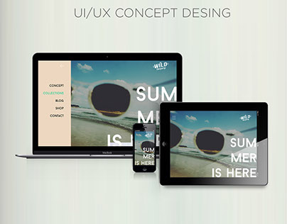 The Wild Co. UI/UX Concept design