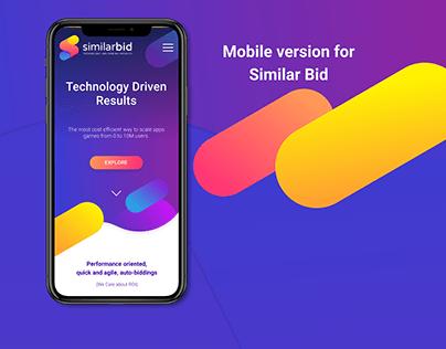 Mobile version for Similar Bid