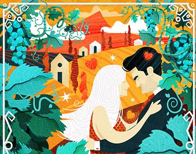 Wedding invitation illustration