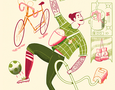 Men's Health mag Dutch edition: Multi tasking