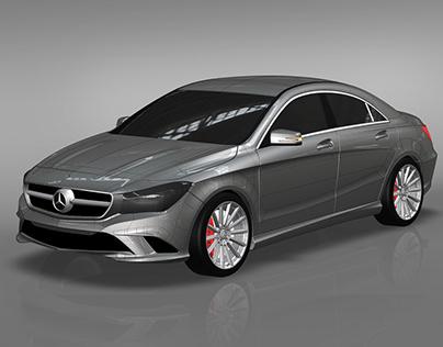 Mercedes CLA Alias B-class modeling