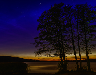 Night over the lake