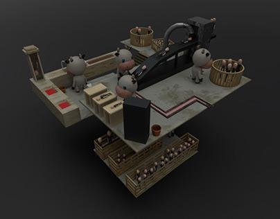 Human Factory: Blender 3D Project