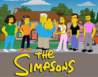 """Illustrations in style """"The Simpsons"""""""