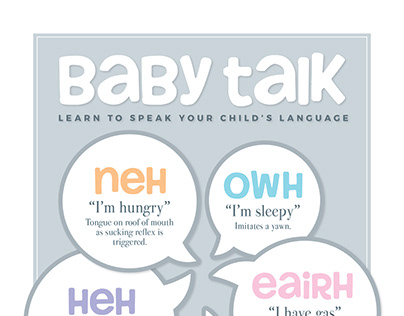 """Baby Talk"" Infographic of Dunstan Baby Language"