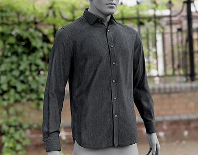 Realistic 3D model of Men's Shirt